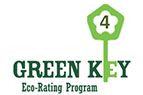 Green Key Eco-Rating program in dark & light green logo