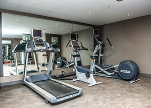 onsite fitness center allows you to continue your fitness routine away from home