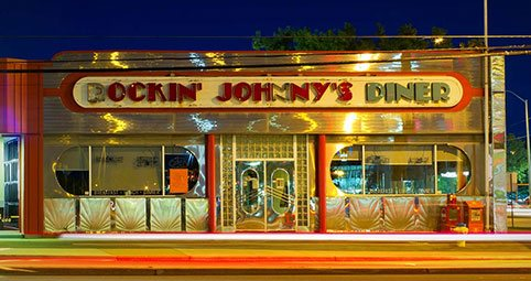 inside Westgate Shopping Center, Rockin Johnny's Diner offer classic diner fare